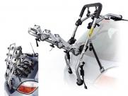 Peruzzo автобагажник на заднюю дверь padova, сталь, труба d:30 мм, для 3 в-дов весом до 15кг, шириной колеса до 70мм, цвет: серый, упаковка-термоплёнка