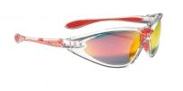 Очки спортивные swisseye constance, подлежат прямому остеклению. оправа: прозрачная глянцевая. линзы: дымчатые коричнево-красное отражающее покрытие