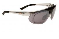 Очки swisseye vision с клипадаптером под диоптрии. оправа: серебристый карбон. линзы: дымчатые fm+оранжевые fm