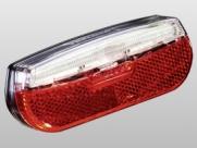 Trelock фонарь диодный задний ls 812 trio flat, без мигалки, чёрный