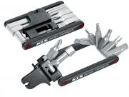 Kellys инструмент складной guide, 15 ф-ций: выжимка, шестигранники 2,5/3/4/5/6/8, т25, отвёртки +/-, спицевые ключи 3,2/3,3/3,4/3,9мм, спицевой ключ mavic