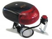 Фонарь сигнальный sl-218a, 6 диодов, 8 звуковых сигналов, крепится на руль, красный, в торг.уп.
