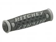 Ritchey грипсы mtn pro tg6, 125 мм, кратон/гель, чёрно-серые с логотипом, в торг.упак.