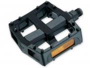 """Педали vp-567, bmx. Материал: пластик, ось из бористой стали, 9/16"""", с подшипниками, с отражателями. Размер: 114х97мм. Вес: 350г. Цвет: чёрный"""