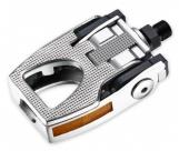 """Педали складные vp-f80. Материал: алюминий, ось из бористой стали, 9/16"""", с подшипниками, с отражателями. Размер: 122х80мм. Вес: 580г."""