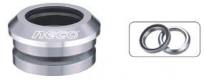 "Neco рулевая h50 интегрированная, 1-1/8""х30мм, высота 9,4±0,5мм, алюминий, cnс, вес 62,5г, промподшипники 41,8x36*x45*, крышка 7,8мм, чёрная, 6 частей"