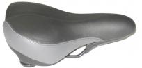 Velo седло vl-6187e, серия: plush (прямая посадка). комфорт. размер: 268х204мм. вес: 614г. основа: double dencity base. обшивка: pu. наполнитель: пена. рельсы: сталь. система проветривания: o-zone. система амортизации: elastomer suspension.