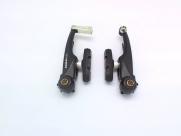 Tektro тормоза v-brake bx-310 для вмх, алюминий, рамки 95мм, пружина линейная, чёрные, с колодками 836.12(63мм), 161г/колесо