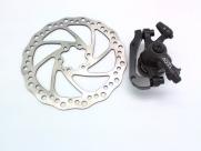 Tektro тормоз дисковый мех. aquila с ротором 180мм, чёрный, колодки: металлокерамика, вес 206г без ротора