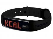 Шагомер SIGMA ACTIVO. цвет: чёрный. функции: количество шагов, расстояние, калории, индикация трёх зон активности, часы, продолжительность и качество сна (с приложением SIGMA ACTIV), на правую/левую руку, влагостойкость IPX7
