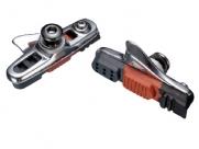 Baradine колодки тормозные 470tc шоссейные, картриджные, 55мм, серебр.корпус, трёхцветный картридж, совместимы с большинством шоссйных тормозов, в торг.уп.