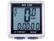 Велокомпьютер as-100 проводной. 11 функций: скорость /режим сканирования /время /пройденное расстояние/одометр /максимальная скорость /средняя скорость /часы /каденс /счётчик калорий /секундомер. цвет: серебристый