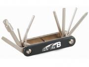 Super b 9625 набор инструментов складной 10 в 1: шестигранники 2/2,5/3/4/5/6/8, отвертка +/-, т25
