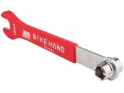 Bike hand yc-161 ключ для педалей 14/15мм накидной + 15мм шлицевой