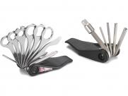 Bike hand yc-280 набор инструментов складной: шестигранники 2/2.5/3/4/5/6/8, отвёртки +/-, торцевой ключ 8мм, накидные 8/9/10/12/13/14мм, монтажки, спицевые ключи 0.127'' 0.130'' 0.136''