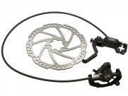 Tektro тормоз дисковый гидр. передний, auriga pro, ротор 180мм, чёрный, с торм. ручкой, гидролиния 800мм