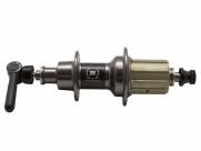 Novatec втулка задняя f292cb кассетная, шоссе, 24н, ось crmo м10х140мм, 4 промподшипника+1 игольчатый, с эксцентриком, 296г, al 7075/карбон