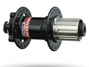 Novatec втулка задняя d362sb/a кассетная, fr/am, 36н, под диск (6 болтов), ось crmo, d:10х135, с 10мм полым эксцентриком, 4 промподшипника, 396г, чёрная