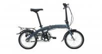 """DAHON Curve i3 Smoke, велосипед складной, колёса 16"""", крылья, багажник, насос, 3 скор."""