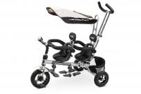 Элитный трехколесный велосипед для двойни Small Rider Platinum ALT (платина)