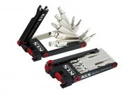 Kellys инструмент складной scout: шестигранники 2/2,5/3/4/5/6мм, отвёртки +/-, т25, спицевые ключи 3,25/3,4мм, выжимка