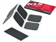 Kellys ремкомплект: заплатки 30х30мм х 6 шт., наждачка, в бумажной упаковке