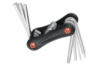 Kellys инструмент складной stinger 8: шестигранники 2/3/4/5/6/8мм, отвёртки +/-