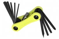 Kellys инструмент складной stinger 10: шестигранники 2/2,5/3/4/5/6/8мм, отвёртки +/-, т25; салатовый