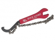 Bike hand yc-502a хлыст для трещоток, ключ на15/16мм, ключ для конргаек оси каретки, длина 230мм
